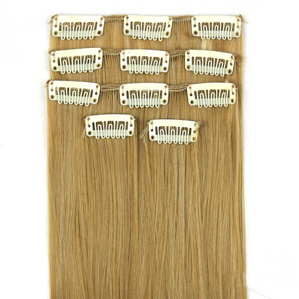 "New Long Straight 5 Pieces Full Head Clip In On Hair Extensions 7 Colors 24"" S69"