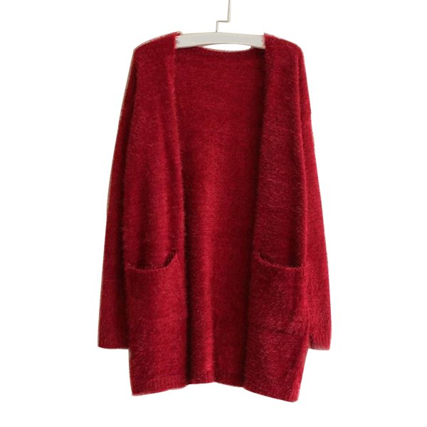 Fashion Autumn Winter Sweater Cardigan Female Casual Knitted Mohair Womens Coat