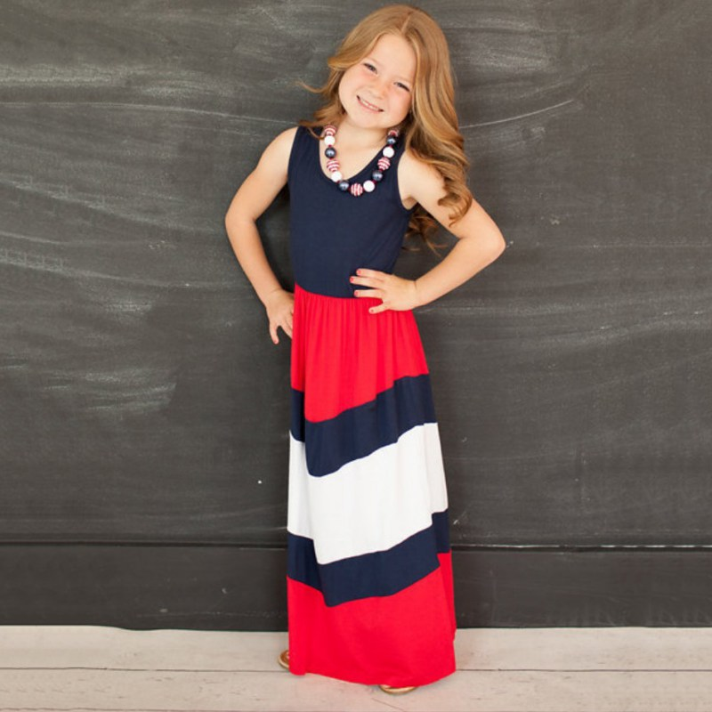 Summer Family Clothes Mother Daughter Beach Dresses Womens Kids ...