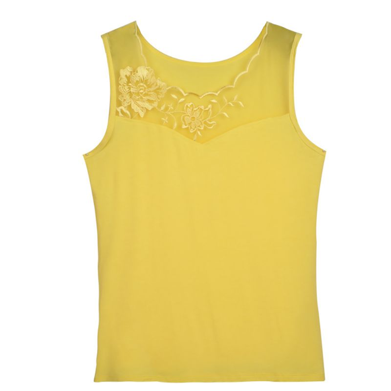 Women Summer Sleeveless Stretch Camisole Vest Lace Floral ...
