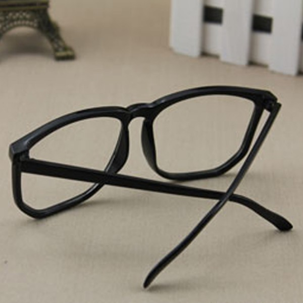 unisex retro square frame glasses men women clear