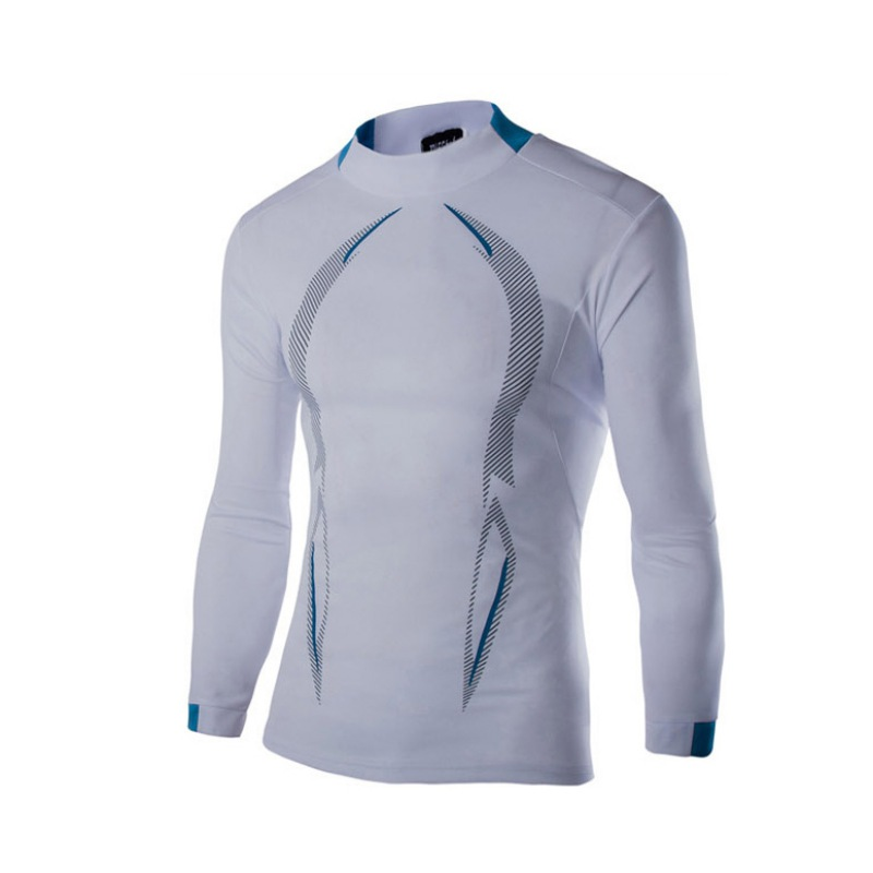 Men Long Sleeve Sports Workout T Shirt Compression Thermal