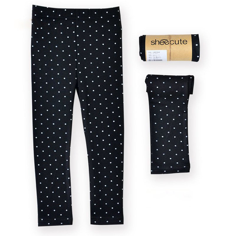 Toddler-Girls-Baby-Skinny-Pants-Warm-Polka-Dots-Stretchy-Leggings-Trousers-2-7Y