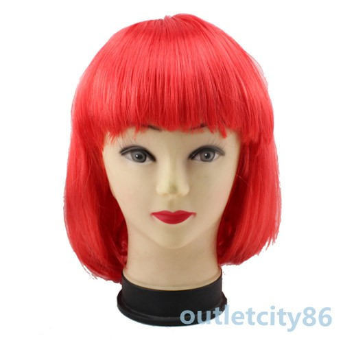 Style Short Straight Cosplay Party Fashion Fancy Dress Wigs美国