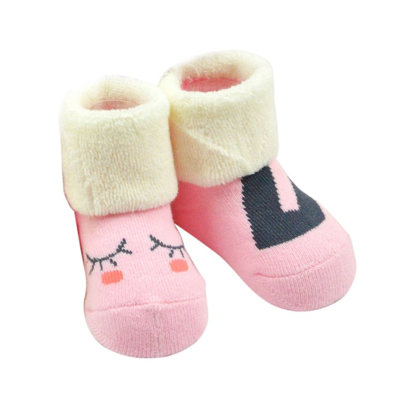 Toddler Baby Cartoon Cotton Socks Winter Thick Boots Anti