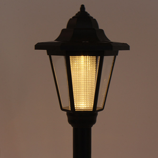 solar powered light path yard landscape lamp post light lawn ebay. Black Bedroom Furniture Sets. Home Design Ideas