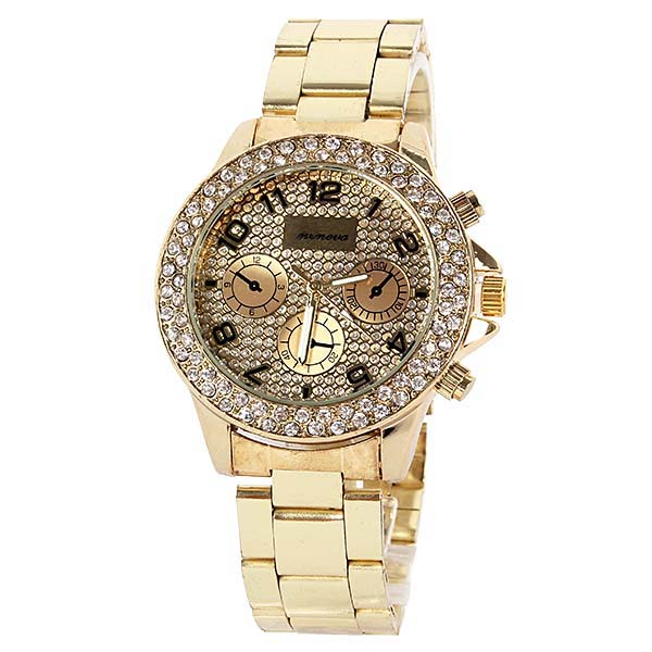Fashion Women's Girls Unisxe Luxury Rhinestone Crystal Quartz Wristwatch Watches