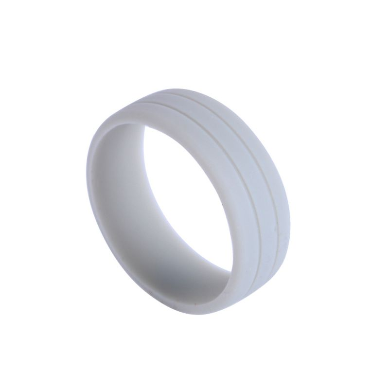 Mens Best Quality Flexible Hypoallergenic Rubber Silicone Wedding Band Ring H18