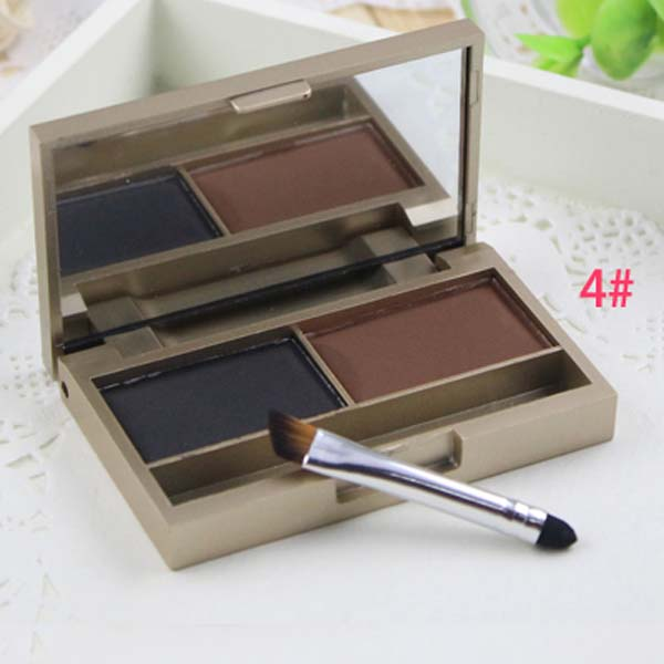 Fashion Cosmetic Kit Makeup Eyebrow Shading Powder Palette 2 Color Natural Color