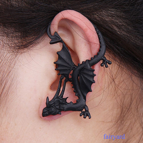 New gothic punk game of thrones dragon animal ear cuff stud earring jewelry hot ebay - Game of thrones dragon ear cuff ...