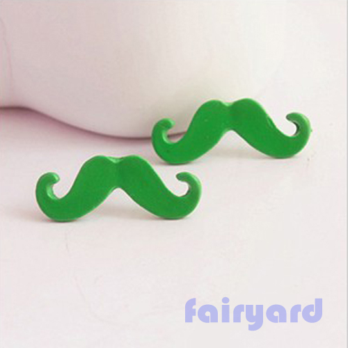 Neon yellow background with mustaches