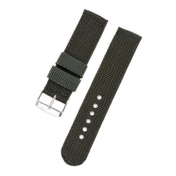 Military Army Nylon Fabric Canva Wrist Watch Band Strap 18/20/22/24mm 4Color A54