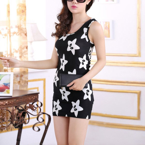 Sexy Women Dresses Summer Casual Sleeveless Party Dress Floral Short Mini  Dress f36c914f6