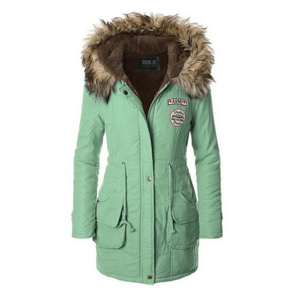 Women's Winter Hooded Coats Warm Parka Jacket Long Lady Fashion ...