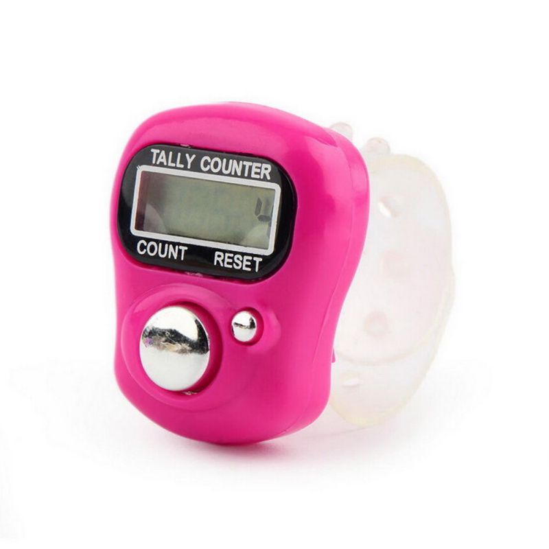Knitting Row Counter For Finger : Brand new lcd electronic digit tally counter stitch marker