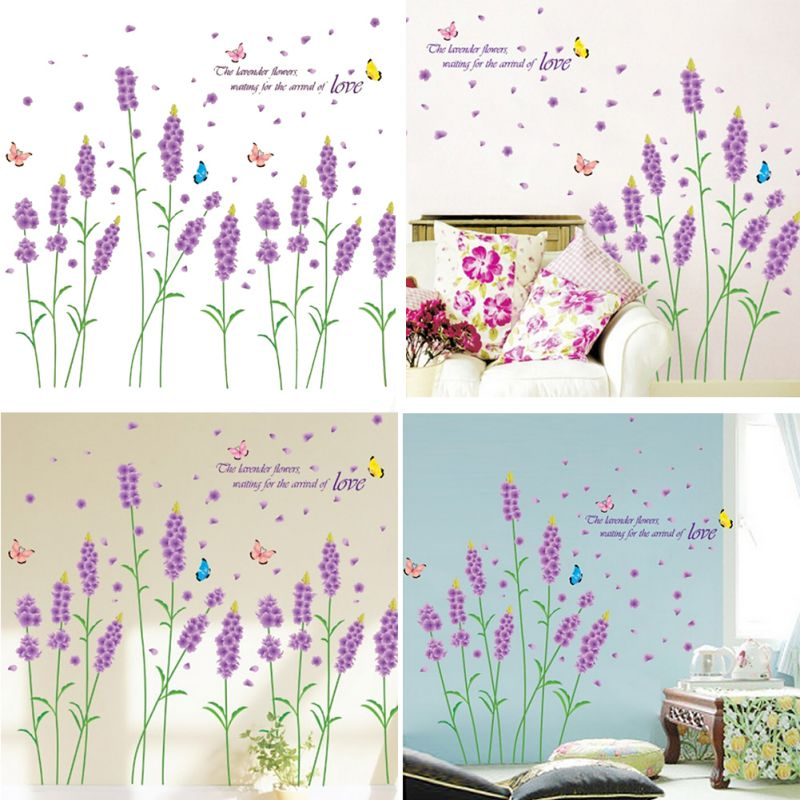 Floral diy art vinyl quote wall stickers decal mural home for Cn mural designs