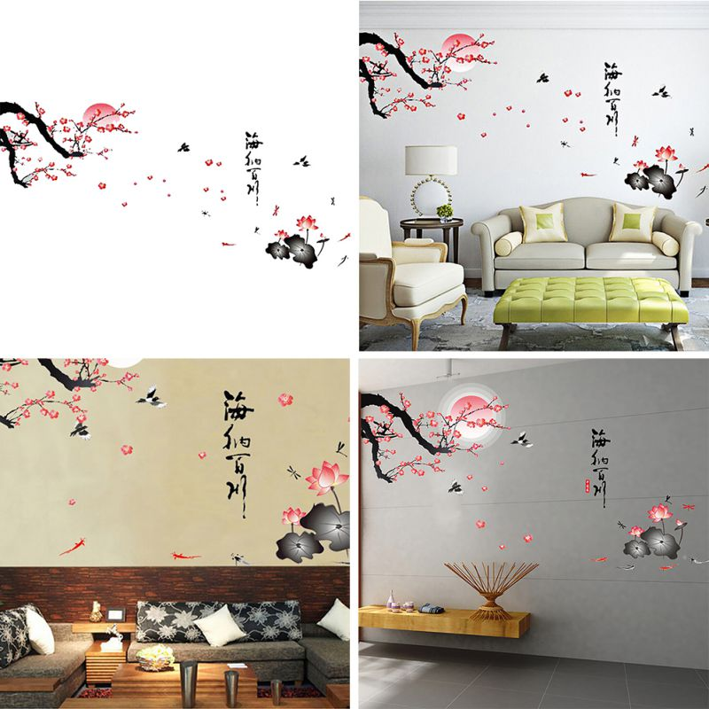 Diy 3d vinyl various views wall sticker poster bedroom for Cn mural designs