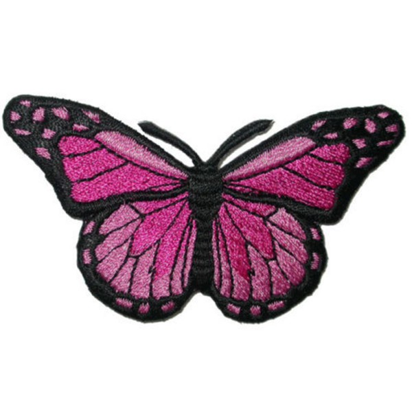 Cloth diy patch embroidered butterfly iron sew on