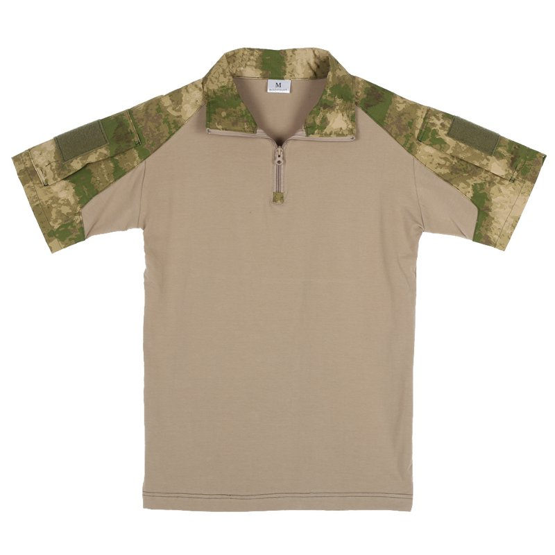 Men army combat military tactical camouflage short sleeve for Military t shirt companies