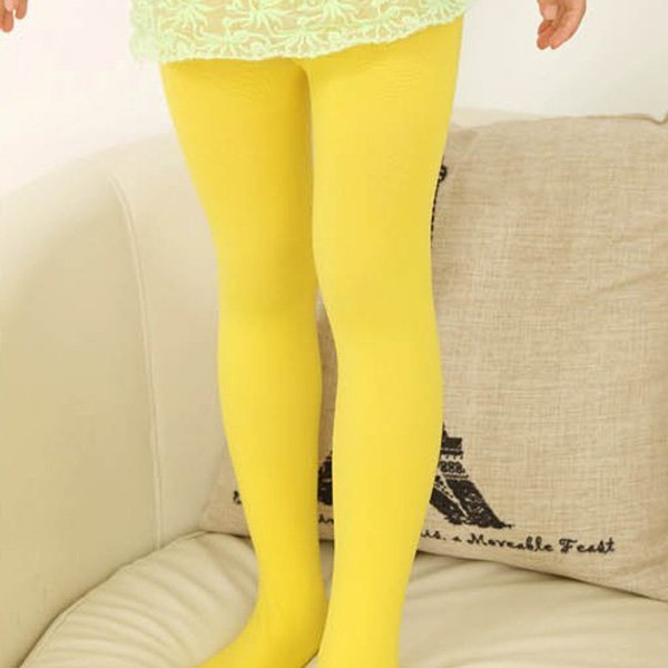 11 Color Stretch Tights Girls Kid Pantyhose Velvet Casual Ballet Stocking Solid