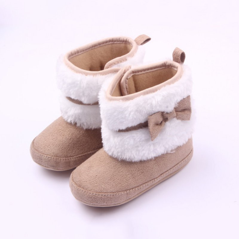 0-12 Months Lovely Toddler Booties Girls Soft Sole Baby Boots Crib Infant Shoes | EBay