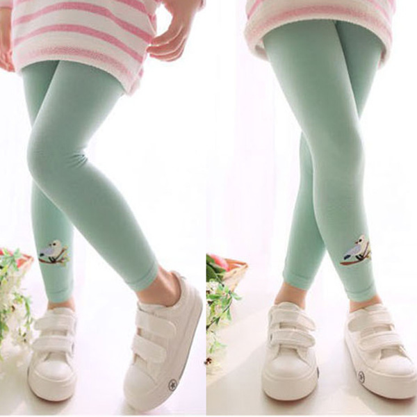 Baby-Child-Kids-Girls-Cotton-Cute-Stretchy-Warm-Pattern-Pants-Leggings-Trousers