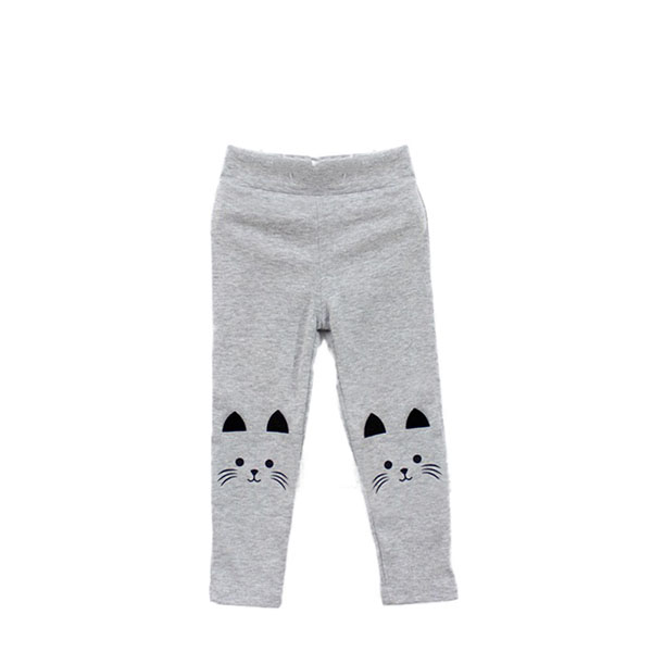 Cute Cat Print Kids Girl Baby Tight Pants Toddler Stretch Warm Leggings Trousers