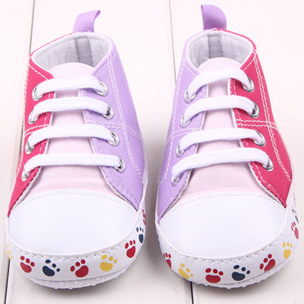 Lovely Kid Infant Dual Color Baby Walking Shoes Toddler