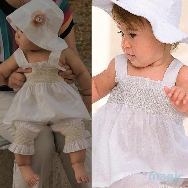 Baby Girls Kids Top Pants Hat Set 3 Pieces Outfit Costume Ruffled Clothes 0 3Y