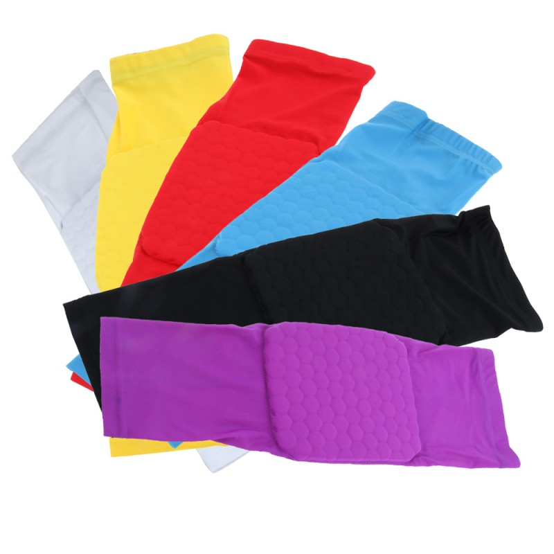 Leg Knee Long Sleeve Protector Gear Crashproof Antislip Honeycomb Pad Multicolor