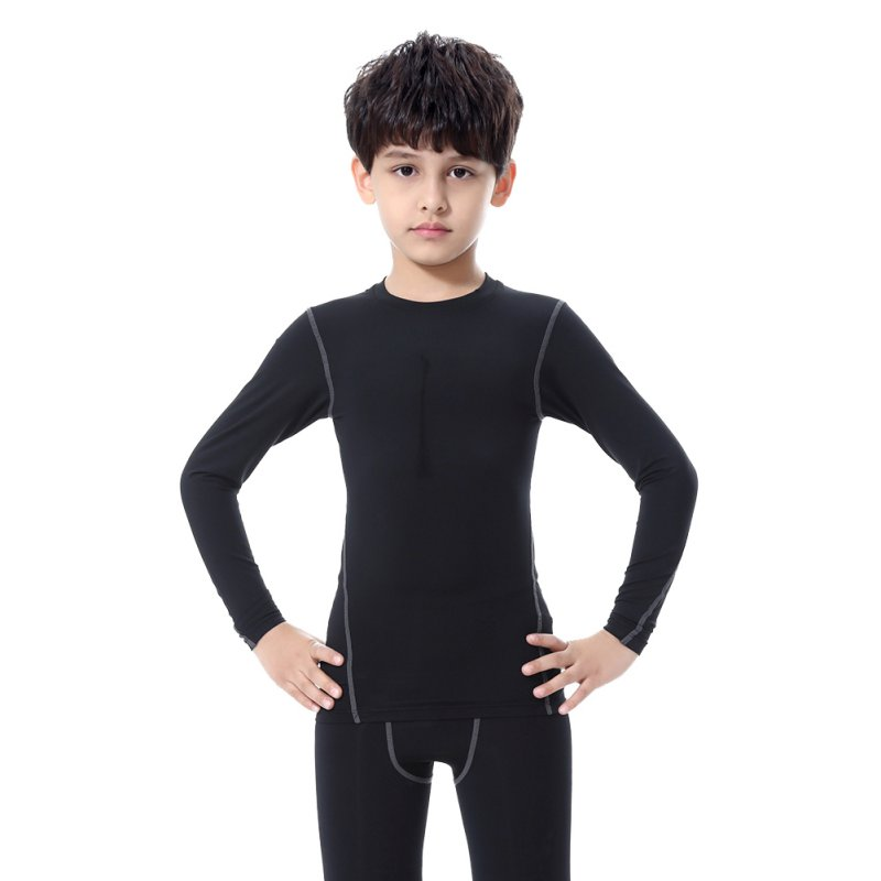 Product Description time to school with our kids heat base layer set. The light weight.