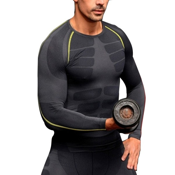 Mens compression base layer long sleeve sports gear shirts for Compression tee shirts for men