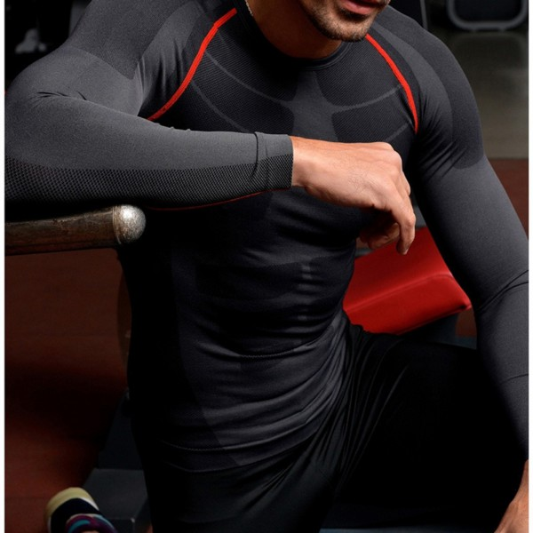 Men's Compression Base Layer Tight Top Tee Shirts Under Skin Sport Gear GYM Wear