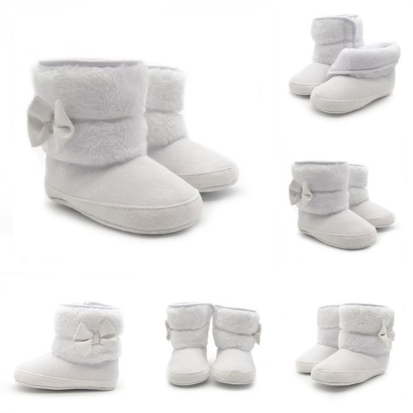 Infant Baby Girls Bowknot Snow Boots Winter Warm Fashion Crib Shoes 0-18M BEr