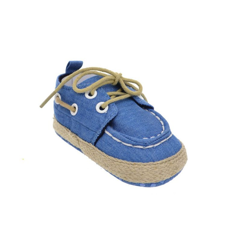 New Toddler Boy Girl Soft Sole Crib Shoes Laces Sneaker Baby Shoes Prewalker B40