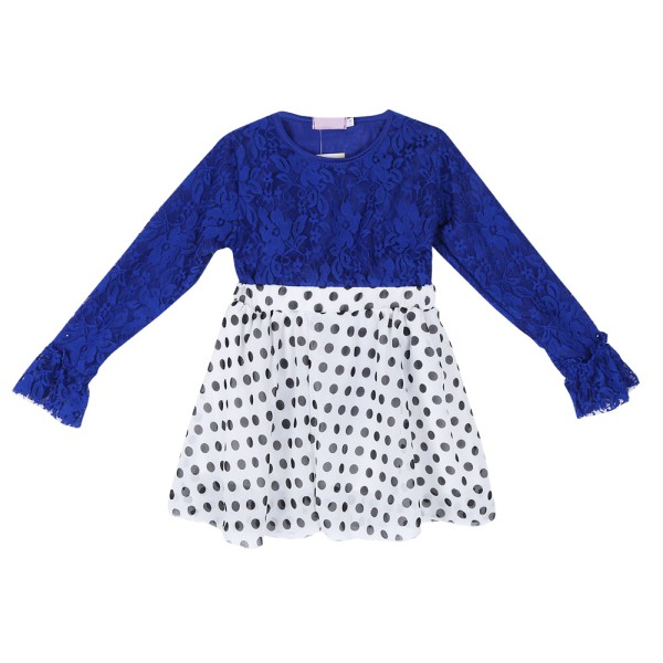 Fashion Baby Girls Long Sleeve Top+Dots Skirt 2PCS Kids Summer Outfits Clothes