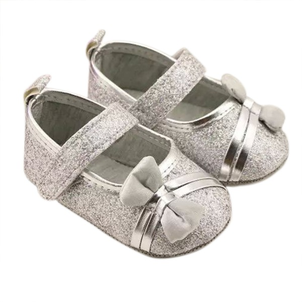 Toddlers Baby Girls Soft Sole Crib Shoes Bowknot Shoes Anti-Slip Prewalker Boots