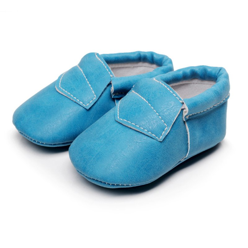 Baby Kids Soft Sole Leather Shoes Toddler Infant Boy Girl