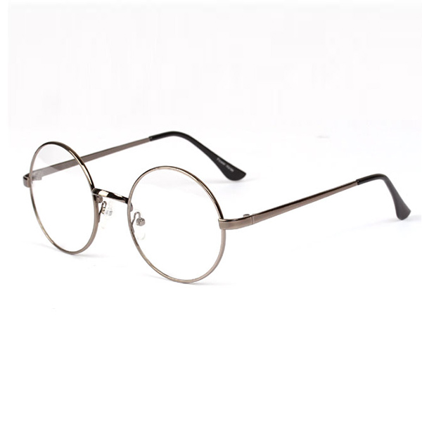 Metal Eyeglass Frame Materials : Unisex Women Metal Frame Round Clear Lens Glasses Retro ...
