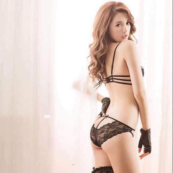 Womens Sexy Bandage Bra Set Push-up Padded Soft Breathable Lace Bra Underwear