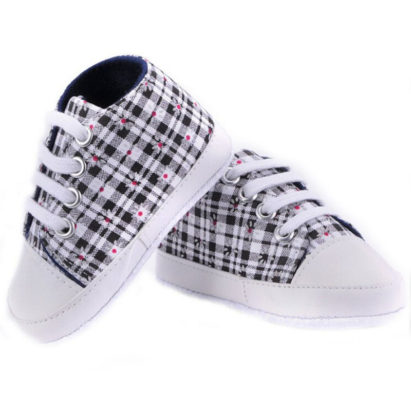 Infant Baby Boy Girls Casual Sole Crib Shoes Soft Lace Prewalkers Sneaker 0-18M