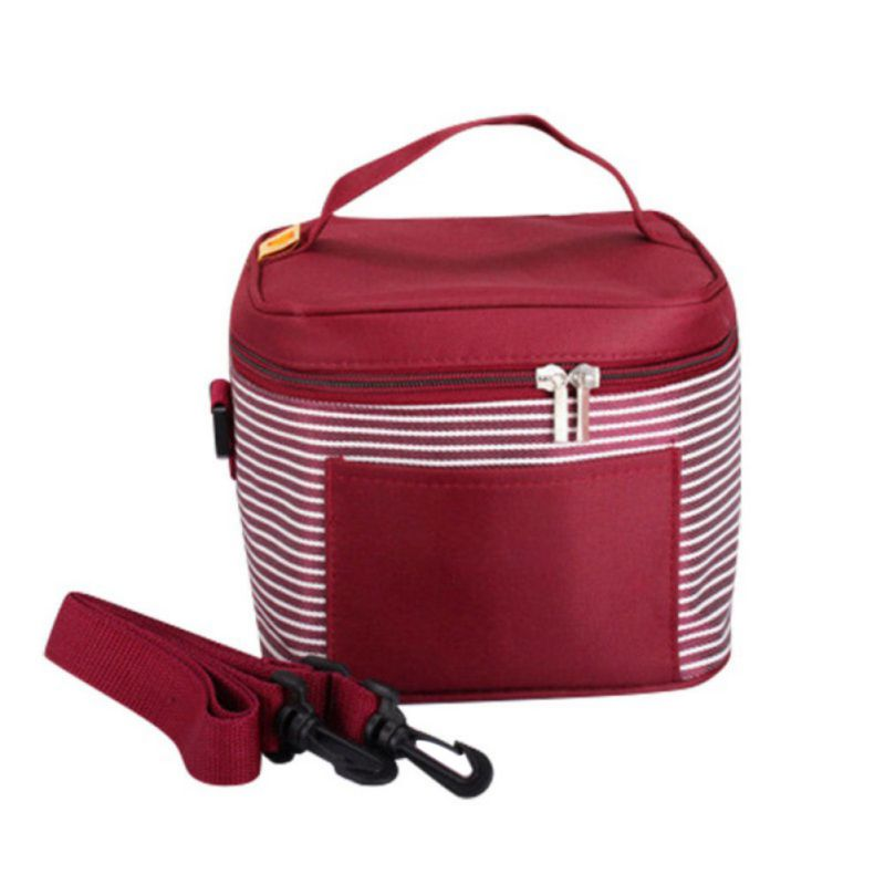 Insulated Carrying Bag : Portable travel insulated thermal cooler lunch box carry