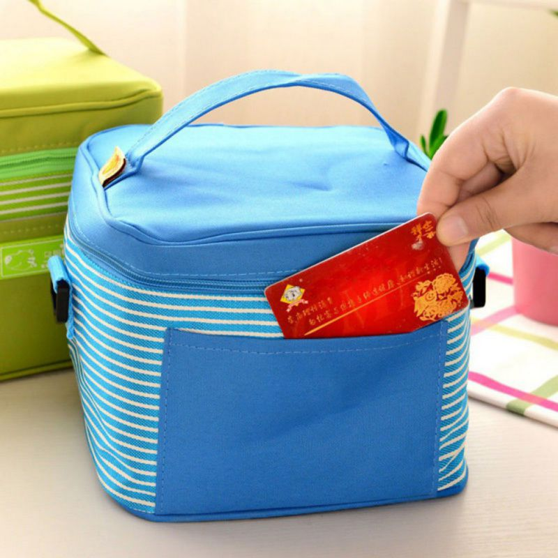 3color women canvas insulated thermal lunch box bag bento cooler tote picnic m62 ebay. Black Bedroom Furniture Sets. Home Design Ideas