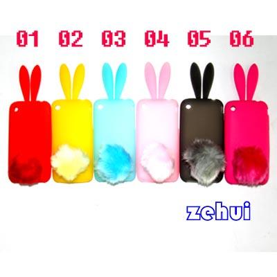 1-6-Color-Cute-Rabbit-Soft-Silicon-Bumper-Cover-Case-For-iPhone-3g-3gs