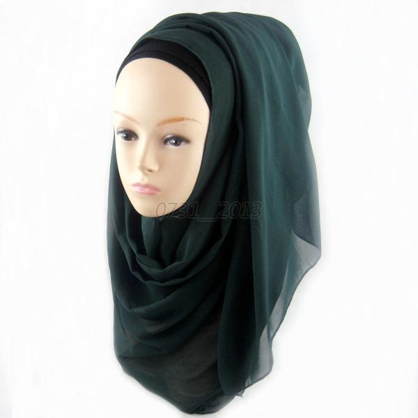 islamic chiffon plain soft basic solid headscarf