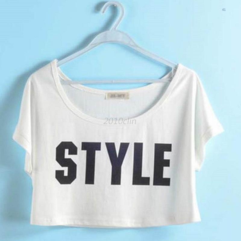 Casual Hot Womens Batwing Short Sleeve T-Shirt Blouse Crop Tops Cotton Loose New