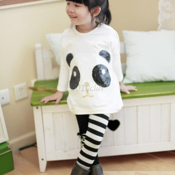 Panda Clothing Kids Toddlers Lovely Girls Batwing-sleeved Shirts Tops 2-7T C85