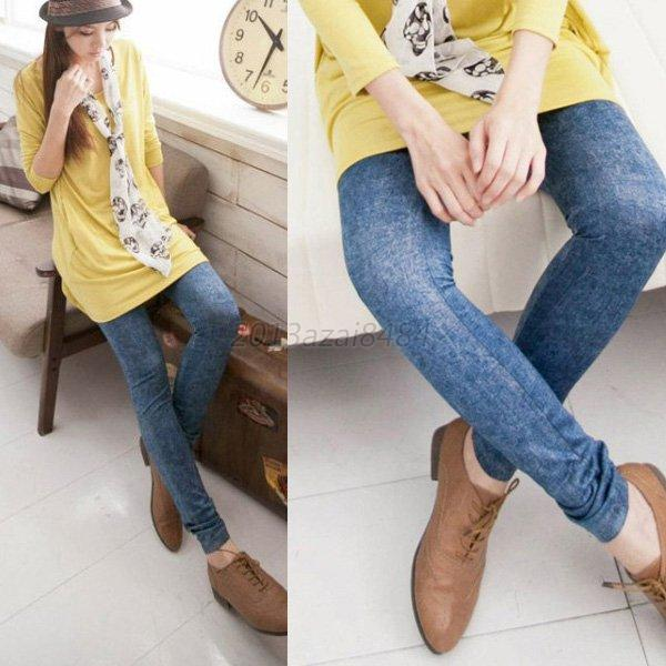 Women Vintage Denim Jeans Skinny Jeggings Tights Stretch Pants Sexy Trousers NEW