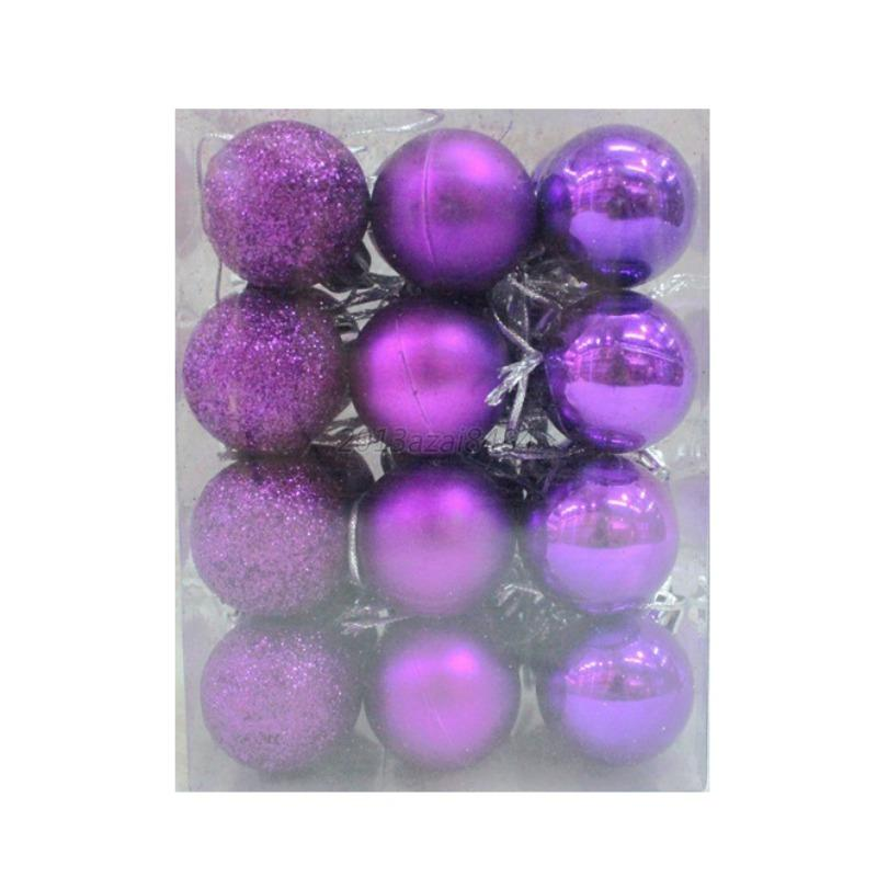 Purple Christmas Tree Baubles Uk : Pcs christmas tree xmas balls decorations baubles party