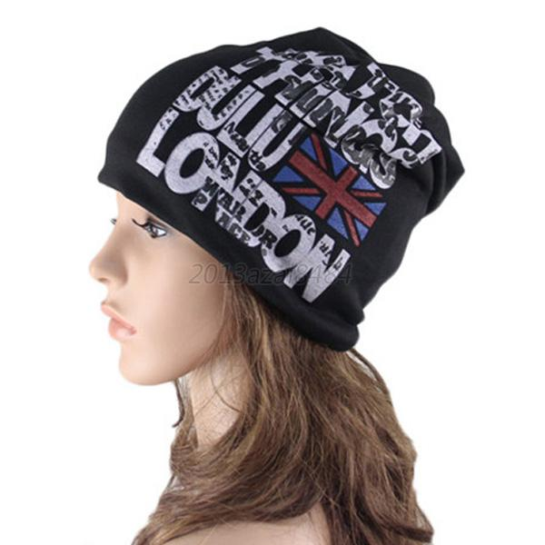 new womens mens baggy slouchy beanie hat uk flag